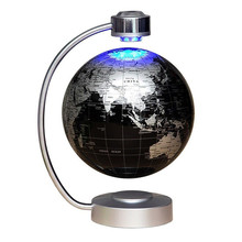 Home Office Desk Decoration Magnetic Levitation Floating World Map Globe with LED Lights for Learning Education Teaching Demo