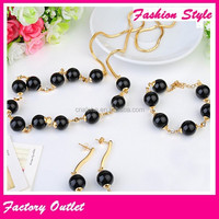 Stainless steel bead lucky craft jewelry set