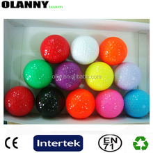 brand logo match OEM cheap Pantone color blank golf ball