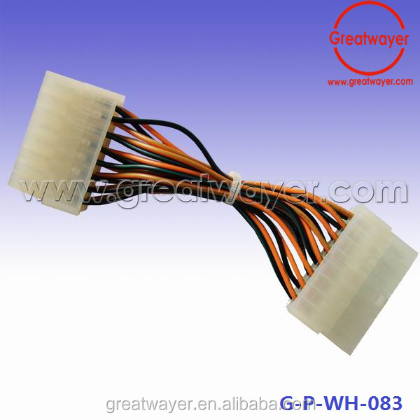 Chinese Car Radio Stereo 12 Pin Molex Type Connector White Clear Wiring Harness