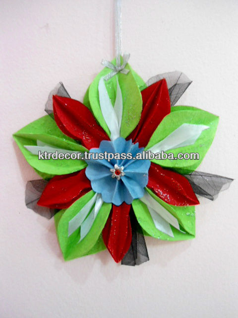 Handmade Candlelight Christmas Paper Ornament