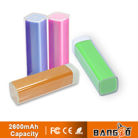 best quality 2600mAh Lipstick Mini Portable Power bank 2600MaH for smart phone