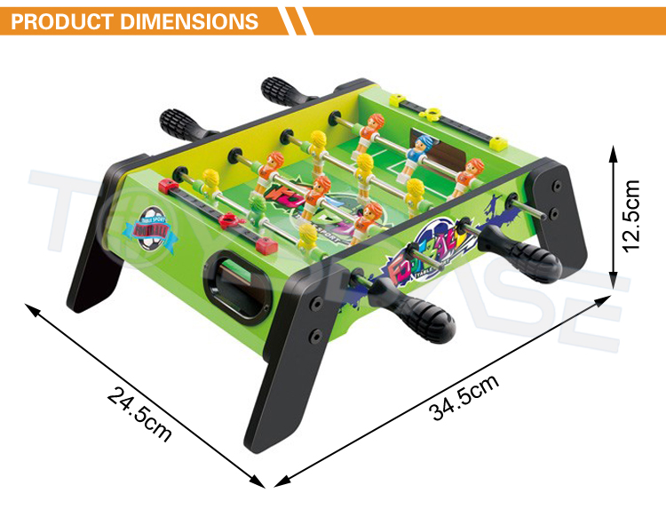 Table Football Game-Four Pole Football Pool Table Kids Play Football Game