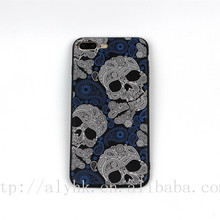 Awesome Cool Gift TPU Frame Shock Proof Skull Cell Phone Case For iPhone 7 Plus