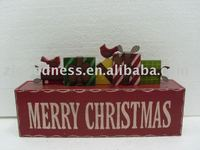 "13""L Wood and Metal Christmas Gift Boxes & Case"