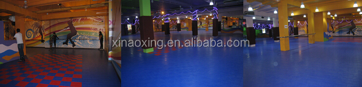 SUGE Very Popular High Quality Interlocking Sports Flooring For Roller Inline Skating