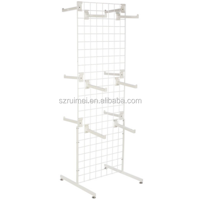 clothing shops high-end t shirt display stands adjustable hanging rails