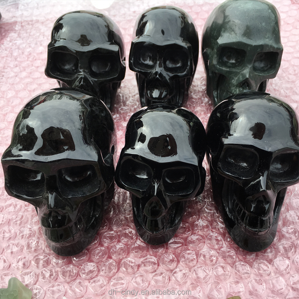 Wholesale Carved High Quality Obsidian Decorative Crystal Skull