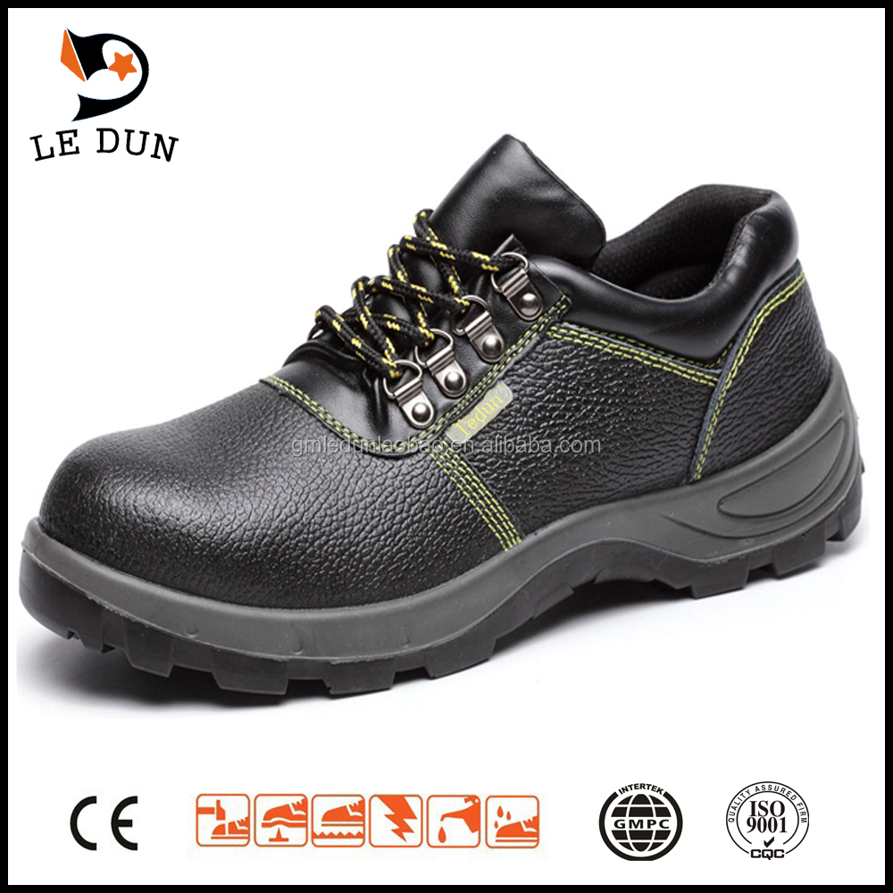High quality New fashionable genuine leather safety shoes with steel toe cap