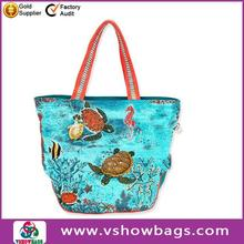 yellow cartoon characters beach bag wholesale