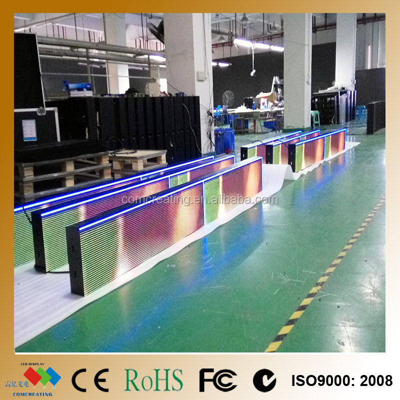 Customized P10 SMD Full Color X Video Display Outdoor Programmable Scrolling LED Sign, LED Programming Sign Display