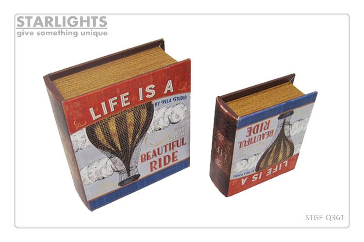 Cost-effective vintage book storage gift box