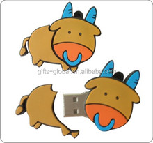 Lovely animal shape customized USB disk pvc cover USB disk pvc cover