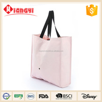 Pink color lady fashion hand shopping bag with straps