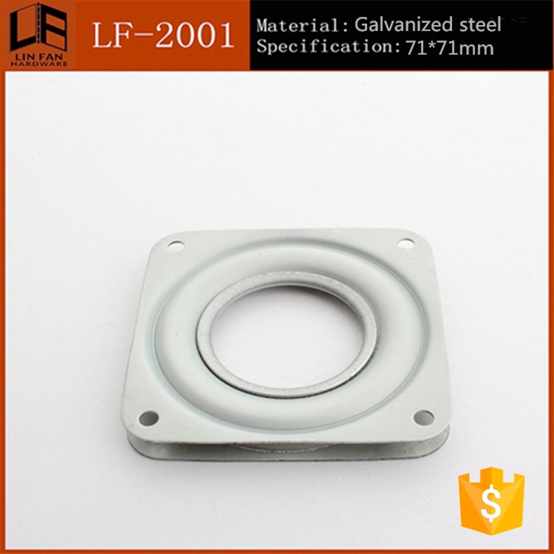 Factory directly sell 3 inch no nioce swivel plate,furniture square lazy susan LF-2001