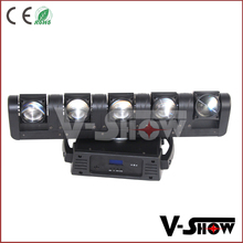 Alibaba topest searching moving head stage bar light 5x12w rgbw beam moving head light 5 heads dj bar light