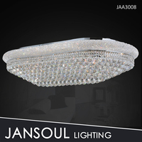 customization size Chrome/Golden retractable crystal ceiling light fixture