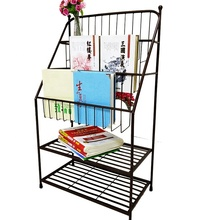 metal book stand <strong>shelf</strong> with wheels modern for kids children corner house book rack