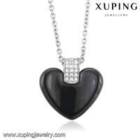 necklace-00157 Xuping heart pendant necklace silver color plated delicate chain fashion jewellery,stainless steel pendant