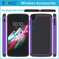 Hybrid Defender Combo Case,China New Products Alibaba Express Mobile Phone Case/Cover For Alcatel Idol3/5.5,Pc+Silicone Case