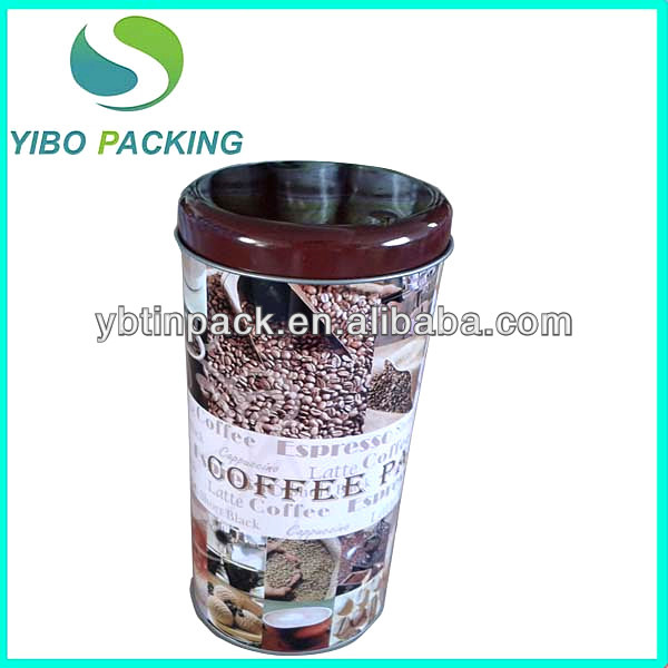 Hot sale! wholesale tin cans for coffee,round coffee tin can