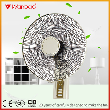Remote Control Wall Mounted Fan 16 Inch Size Three Speed Switch