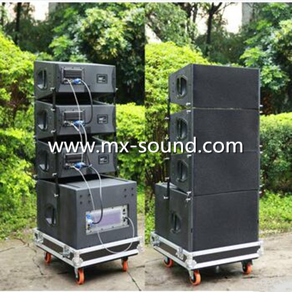 "Double 10"" Powered Active Q1N Line Array Pro Speaker System"