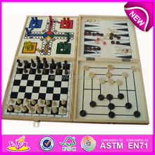 2015new style wooden board game ,most popular wooden chess game from wooden toy supplier WJ277101
