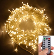 Battery Operated 300 LED Curtain String lights w/ Remote & Timer, Outdoor Curtain Icicle Wall Lights For Wedding Backdrops