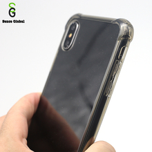 Popular pc tpu blank cell phone case hard clear phone back cover for iphone x