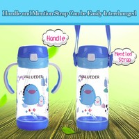 New style 10oz kids portable drink bottle with handle