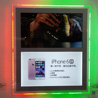 outdoor frame transparent LED acrylic board Advertising display digital screen