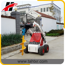 mini skid steer loader with tires driving control type