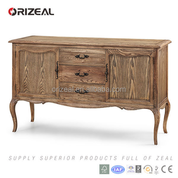 Chinese style Antique design furniture recycled wood natural sideboard