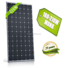 Amorphous silicon 210w high quality solar panels for solar batteries