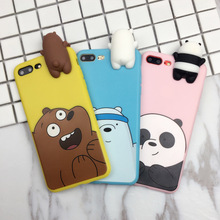 3D TPU animal Soft squishy phone case for iphone 6s/7/7 plus/x
