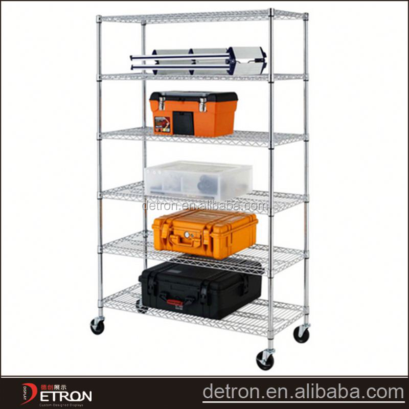 Low price DIY unti-static chrome wire shelving unit