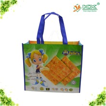 cute biscuit laminated non woven shopping bag