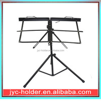 Foldable Black Metal Music Stand