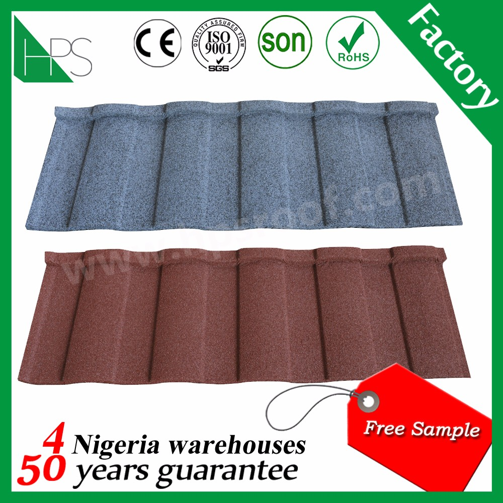 Roman types of roofing iron sheets in Kenya Guangzhou color coated roofing tile Company