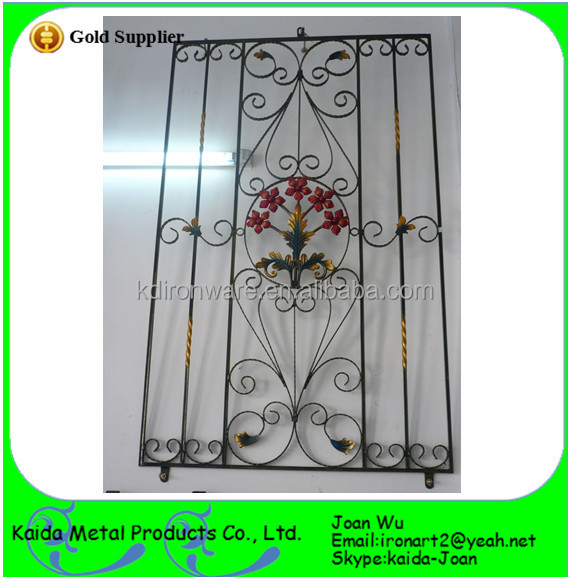 Simple Wrought Iron Steel Window Grills Design With Paint