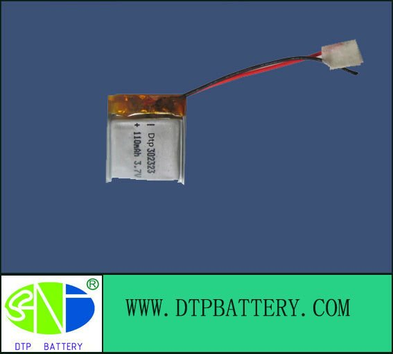 3.7V 110mAh lithium battery,li polymer batteries with high quality