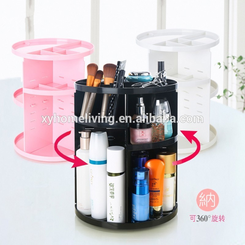 Hot selling ABS material 360 Degree Rotating Makeup Organizer