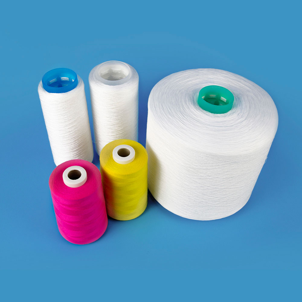 100% polyester sewing thread raw material 40/2