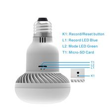 MINI HIDDEN WIFI LIGHT BULB SECURITY IP CAMERA WITH NIGHT VISION