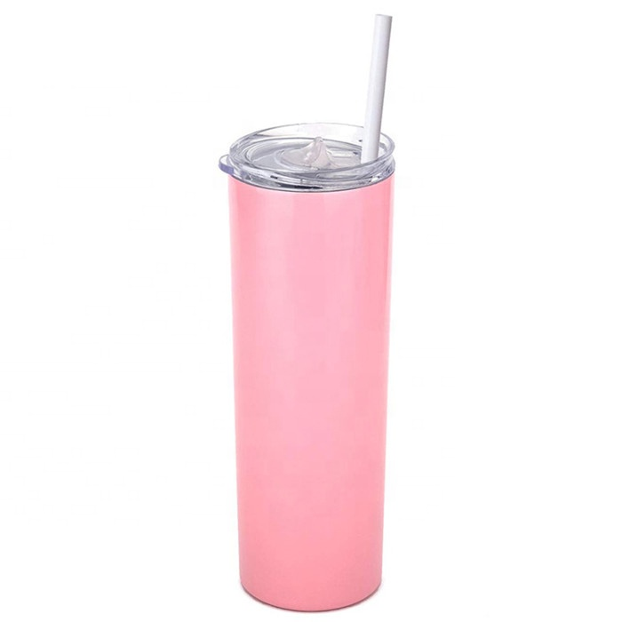 20 oz Double Wall Stainless Steel Insulated Vacuum Cups Skinny Tumbler