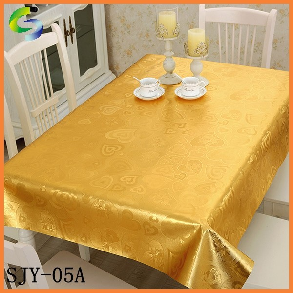 Golden and Silver cheap pvc plastic tablecloth in rolls
