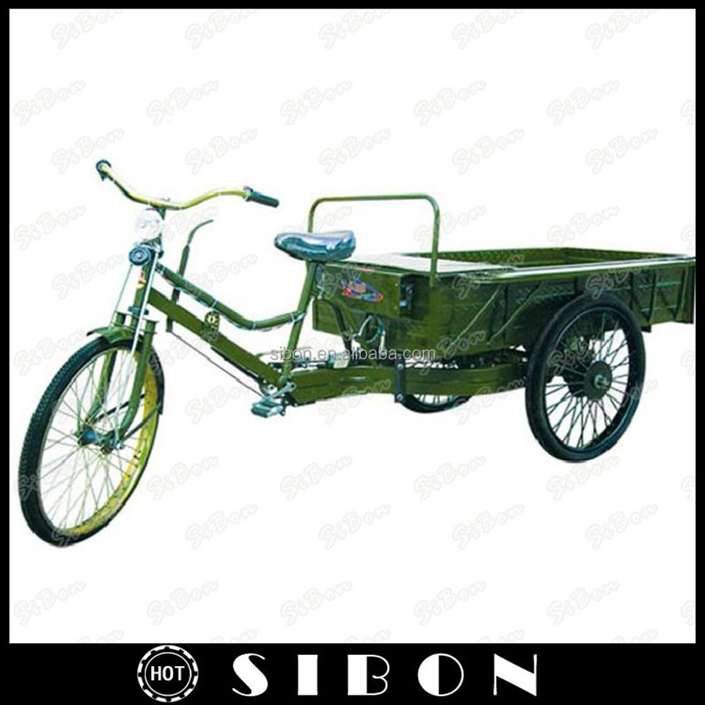 "SIBON 24"" man power tricycle cargo with cabin of tailered sizes"