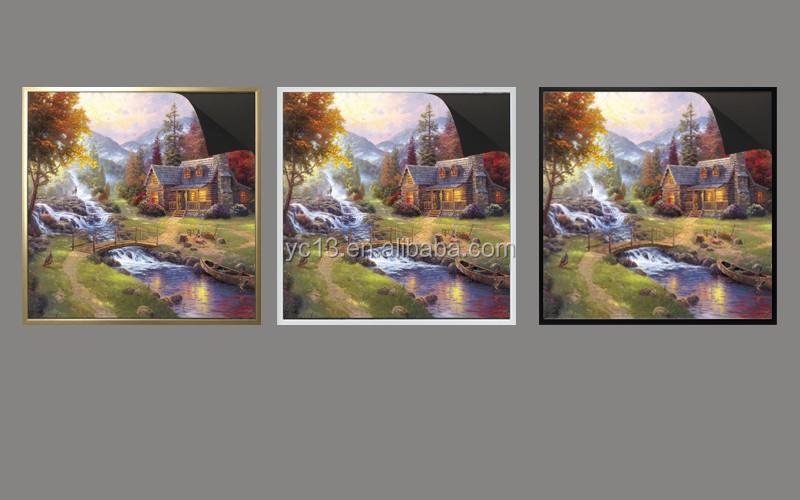 print magnetic paintinga Thomas kinkaides kpaintings 1013-168 and golden magnetic frame