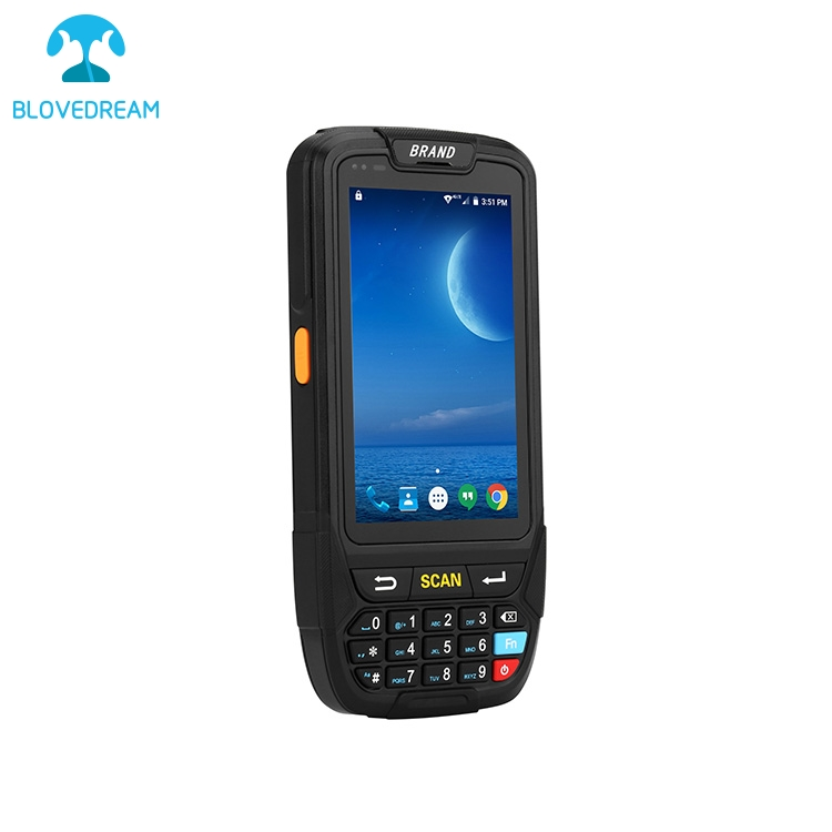 LECOM AN80S Long time battery waterproof pda ip65 rugged handheld mobile data collector